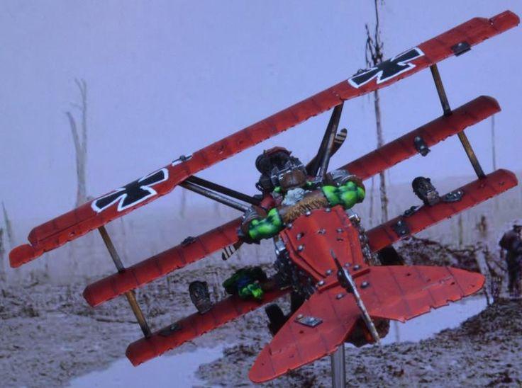 Fokker, Ork Red Baron, Red, Triplane By Midget Gems
