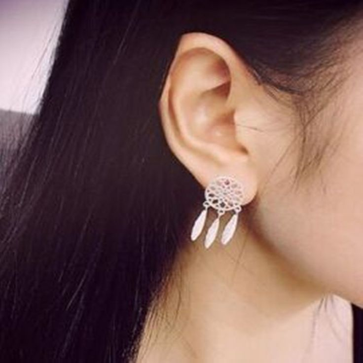 European and American fashion new jewelry bohemian dream catcher feather earrings free shipping