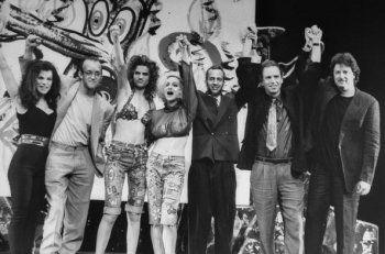 Actress Debbie M  artist Keith Haring   actress Sandra Bernhard   singer Madonna