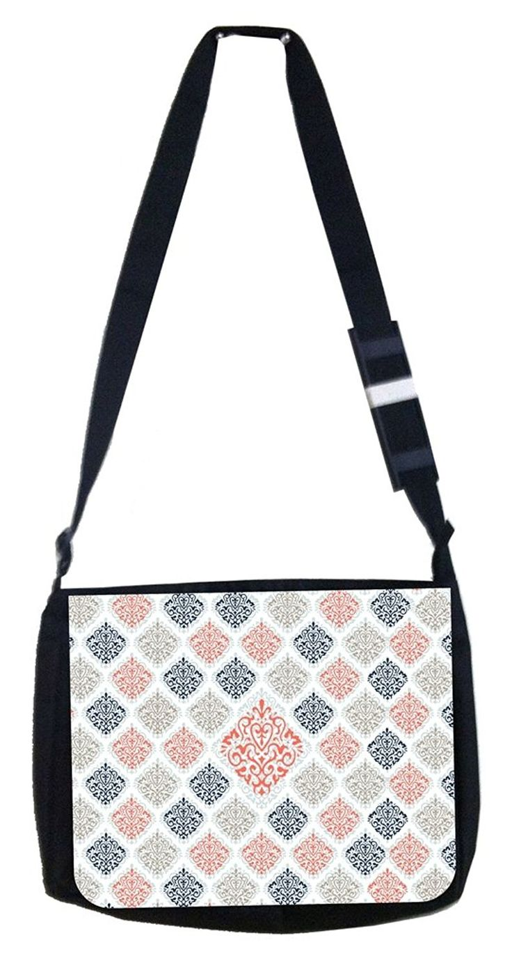 Large and small damask Rosie Parker Inc. TM Medium Sized Laptop Messenger Bag 11.75' x 15.5' -- You can get more details by clicking on the image. (This is an Amazon Affiliate link and I receive a commission for the sales)