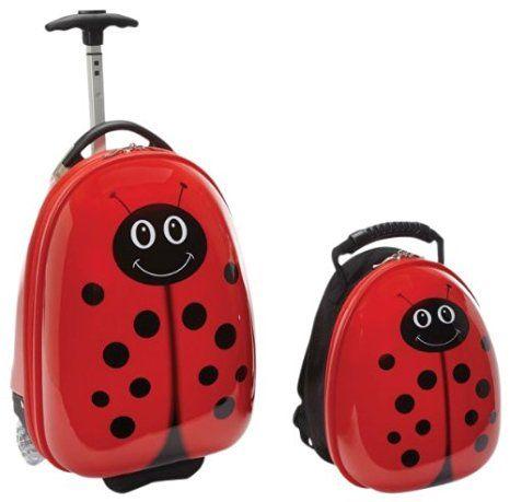 LadyBug Children's Luggage Set gift for toddlers