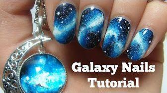 paznokcie galaxy - YouTube