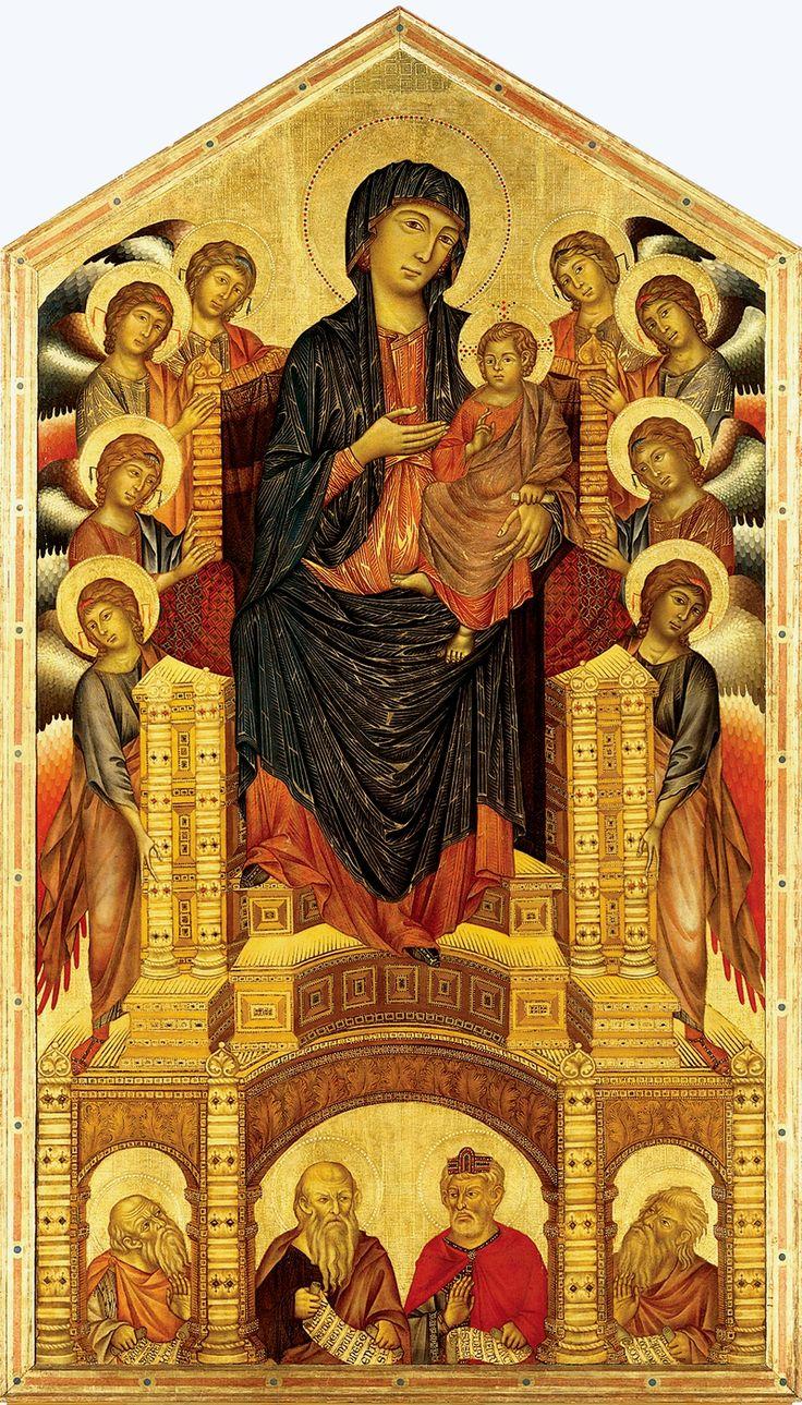 Cimabue - Madonna di Santa Trinita dipinta tra il 1280 e il 1290