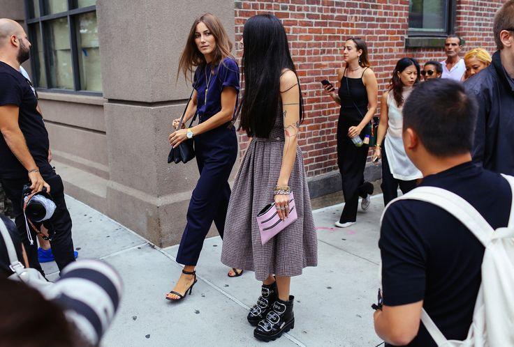 Giorgia Tordini and Gilda Ambrosio in Alexander Wang boots: