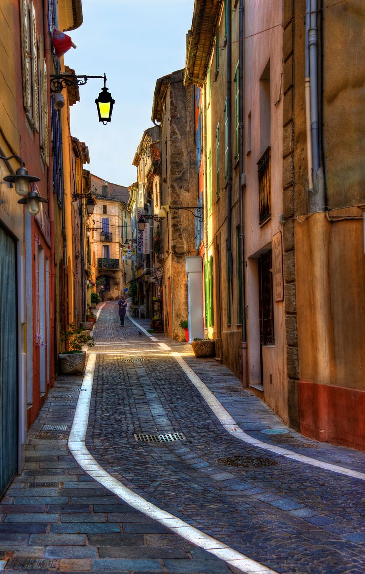 https://flic.kr/p/de4bCh   street scene of a quaint old french road taken in Roquebrune Sur Argens Provence South of France