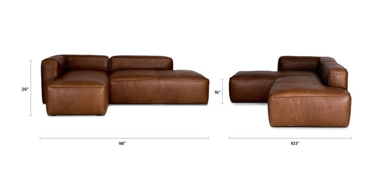 Mello Taos Brown Left Sectional - Sofas - Article | Modern, Mid-Century and Scandinavian Furniture