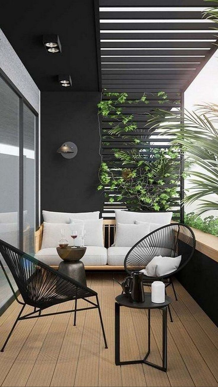 Apartment Balcony Decorating, Apartment Balconies, Furnished Apartment, Balcony Design, Balcony Ideas, Balcony Garden, Balcony Decoration, Patio Ideas, Garden Ideas
