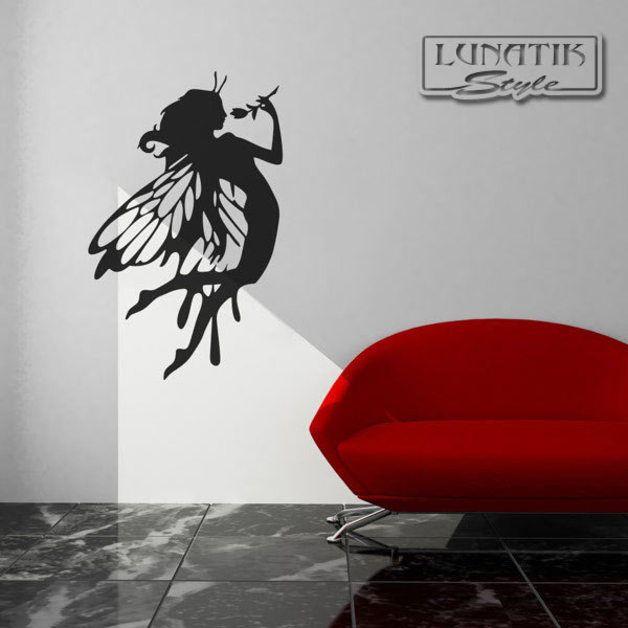 Wandtattoo - Wandtattoo Elfe Fee - WB12 - ein Designerstück von Lunatik-Style bei DaWanda