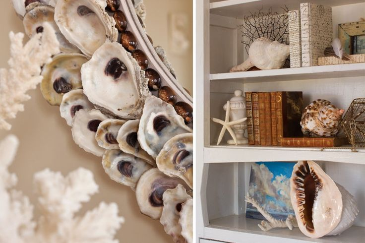 Decorating with Sea Shells.  Via:  The Cottage Journal