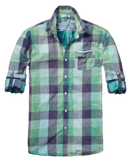 Camisa de cuadros multicolor | Camisa de manga larga | Ropa para hombre en Scotch & Soda