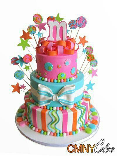 Brights Cake Cakes Cake Birthday Cake Themed