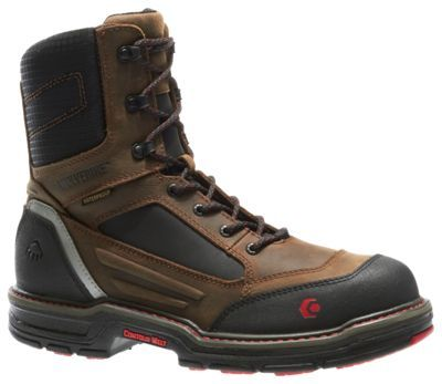 Wolverine Overman Waterproof CarbonMax 8'' Safety Toe Work Boots for Men - 10.5 XW