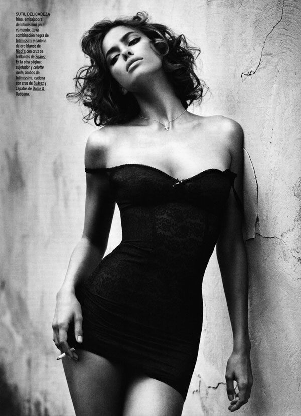 Vincent Peters shoots Irina Sheik for the December 2010 issue of GQ Spain.