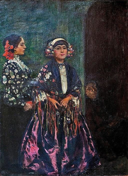 István Csók (Hungarian, 1865-1961), Sokác women - by Parisi Gallery
