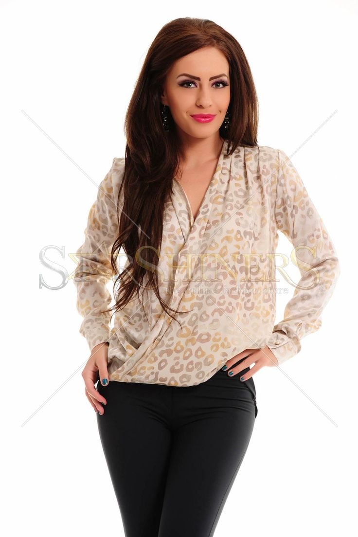 PrettyGirl Printed Cream Blouse