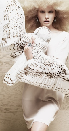 Fashion owl embrace. Dyberg Kern ad.