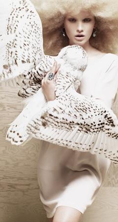 Fashion owl embrace. Dyberg Kern ad.