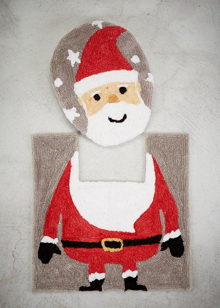 Santa Toilet Seat & Pedestal Mat Set