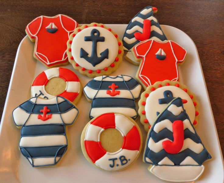 Galletas Nauticas para baby shower