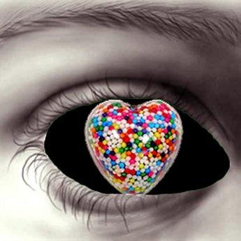 Heart of Candy Eyes-Black *Hidden~Surface*