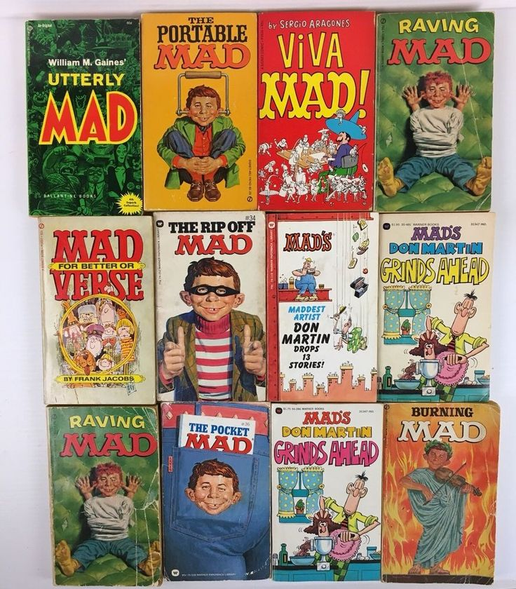 Qty 12 - Mad Magazine Paperback Book Collection - Don Martin - Sergio Aragones