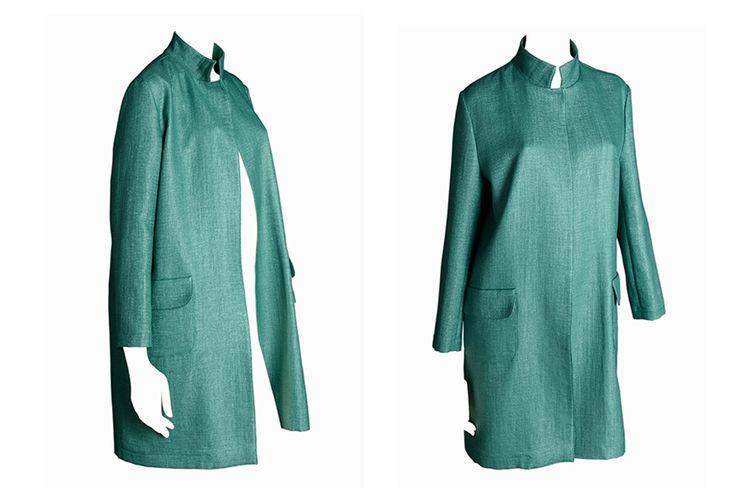 C.47 Raffia cotton coat.