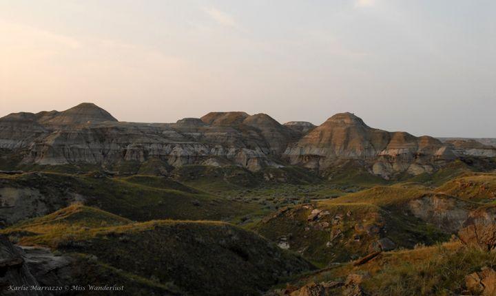 The golden hour. Dinosaur Provincial Park, Alberta. #explorealberta