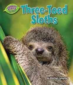 Introduces the three-toed sloth, describing its physical characteristics, habitat, life cycle, and ways in which it protects itself from predators.