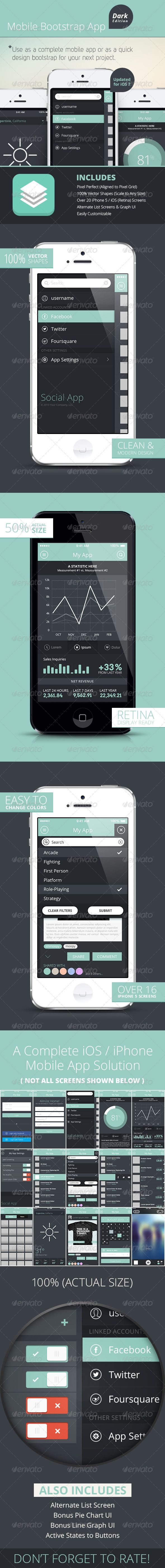 Bootstrap Mobile Phone - UI - iPhone iOS