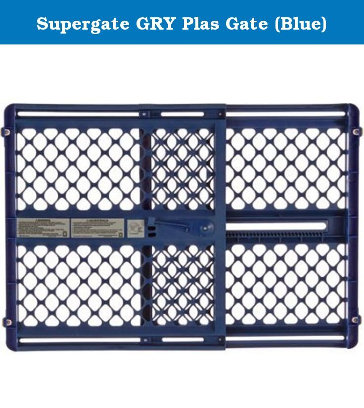 Supergate GRY Plas Gate (Blue). The Supergate III is actually five gate styles in one. The gate can be pressure-mounted in any doorway up to 42 inches wide. It can be attached to any doorway with sockets for slip-on installation. Use those same sockets between wrought iron railings or walls and wrought iron railings. Mount the sockets again to any wall or stair railing for a swing gate. The hardware is included; all you have to do is figure out where to use it.