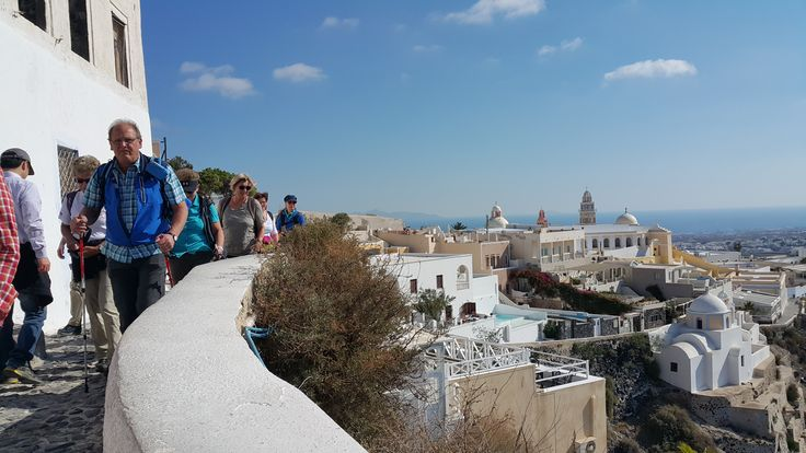 Leaving #Fira to start the #hike
