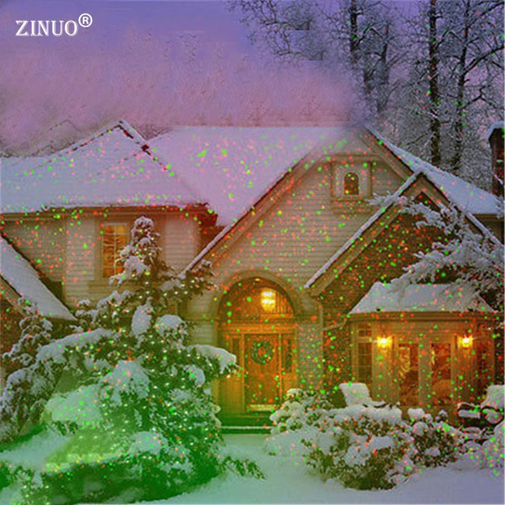 ZINUO Outdoor Garden Lawn Light Sky Star Laser Spotlight Light Projector Shower Landscape Park Garden Christmas Lights Outdoor