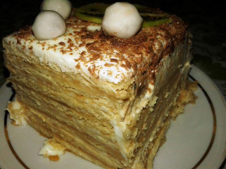 Вкусные домашние рецепты: Торт из печенья без выпечки