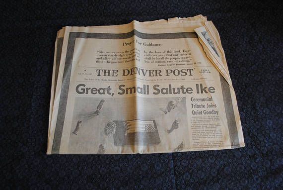 The Denver Post Colorado 1969 newspaper about President