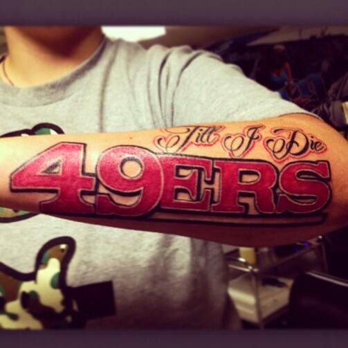44 best images about san francisco 49ers tattoos on pinterest fan tattoo football season and fans. Black Bedroom Furniture Sets. Home Design Ideas