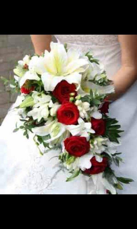 Bouquets of poinsettias