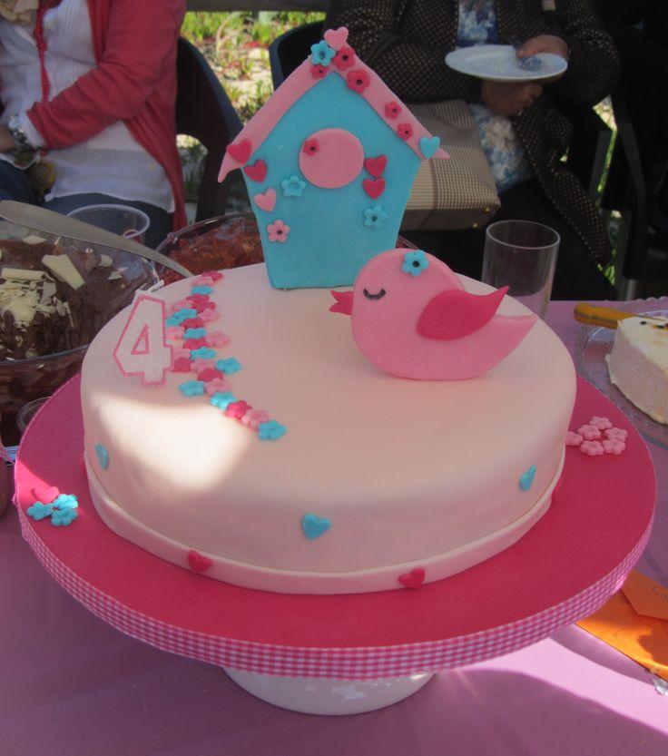 4 anos bolo de aniversário (passarinho)