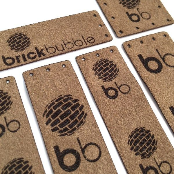 Ultra Suede Garment Tags - Brickbubble