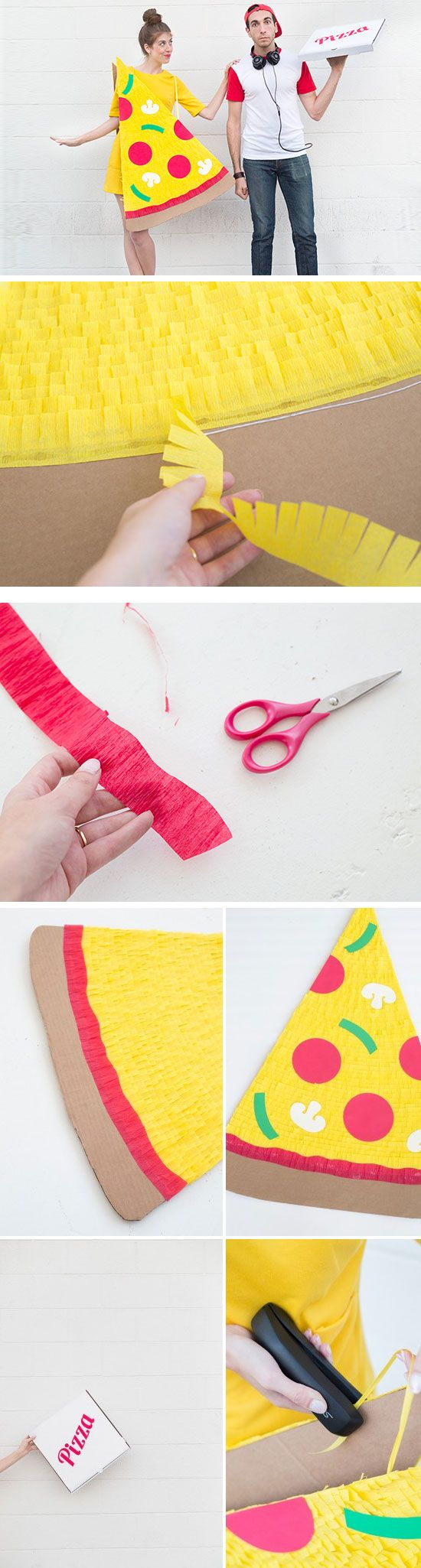 DIY Pizza Slice   Delivery Boy | Click Pic for 26 DIY Halloween Costume Ideas for Couples | Last Minute Halloween Costumes for Groups DIY