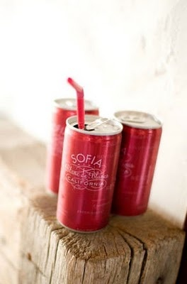 pink champagne in a can.