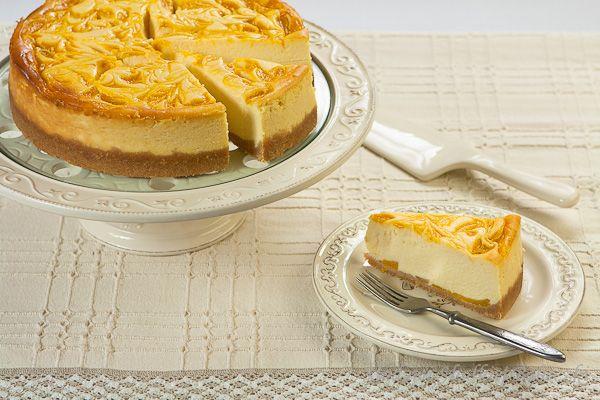 Peach mousse cheesecake
