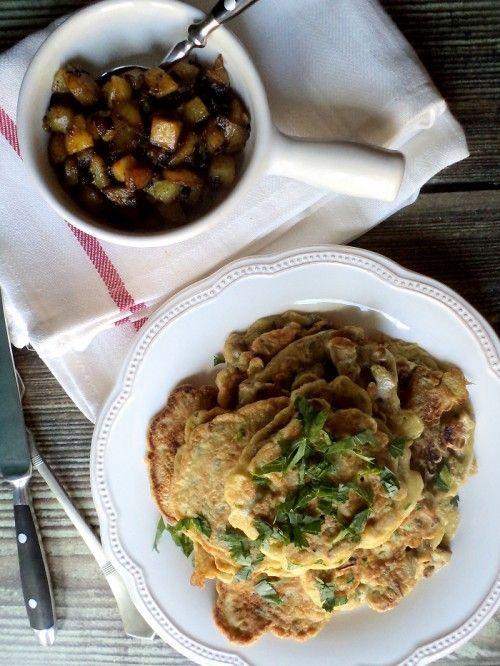 Padlizsánomlett és líbiai fűszeres burgonya recept