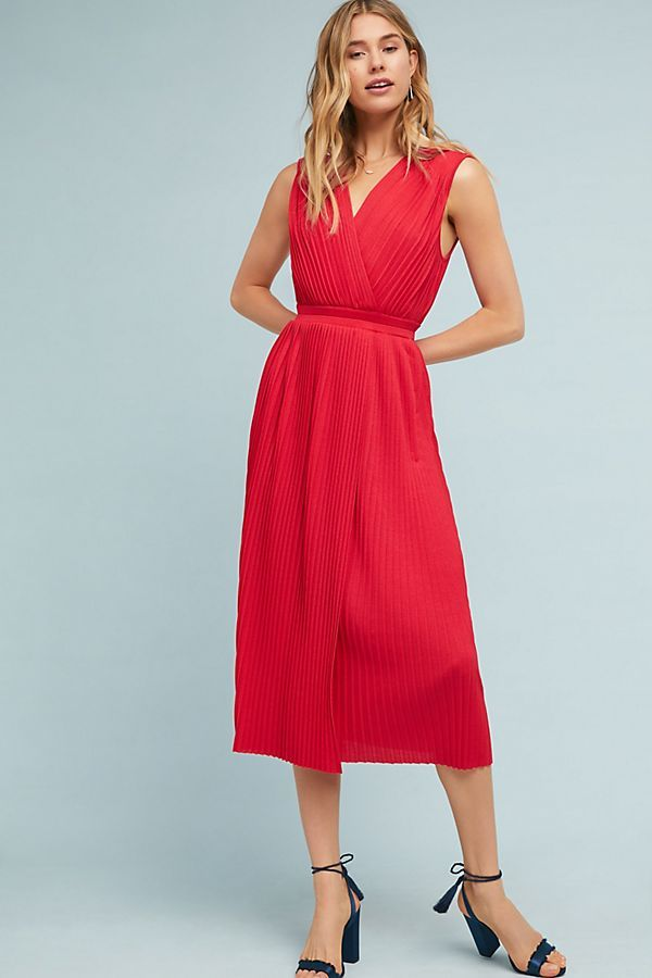 fd6a60f6a61fe Tracy Reese Pleated Midi Dress | Style Inspiration | Pleated midi ...