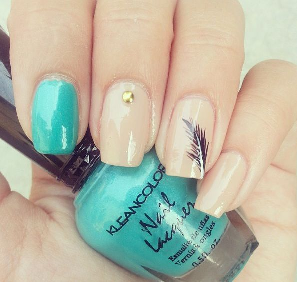 My two fab colors I love that there are ideas for several different accent nails!
