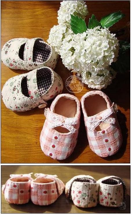 ATELIER CHERRY: Sapatinhos de bebê em tecido - Passo a passo e molde