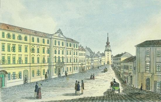 Az országgyűlés épülete Pozsonyban