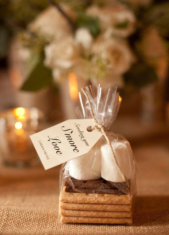 Want some more? Your guests will when you give out these cute s'more favors!