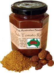 Kurrajong Bush Tomato Relish 200ml Ingredients:  roma tomotoes, onion, red wine vinegar, brown sugar, Bush Tomatoes (8%) roasted bell peppers, sea salt, maize flower  A sweeter style super tasty relish featuring the strong earth flavour of the Bush Tomato (Akatjurra) from the Central Desert region.  Perfect with crackers and cheese, beside a steak with leafy salad and crusty bread or with BBQ vegetables $12.00