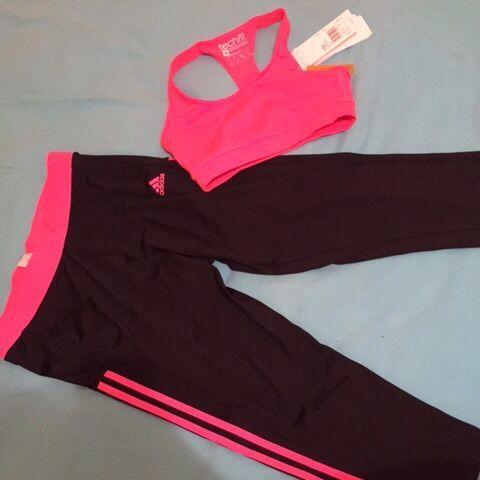 Vêtement de sport avec encore étiquette Addidas Haut: XS Bas M sur #Shopus
