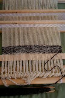Twill on a rigid heddle loom - scroll down aways in the blog